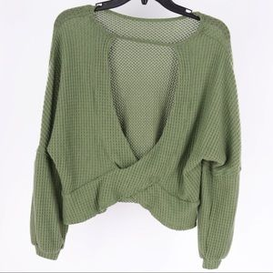 $65 Retail XS Abound Women's V-Neck Sweater Crop